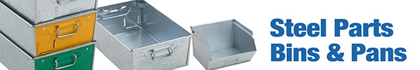Steel Parts Bins and Tote Pans