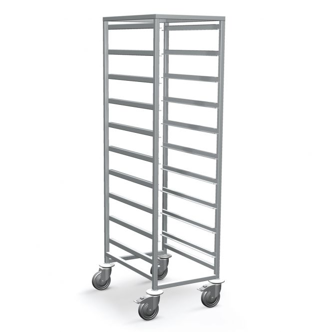 Tall Open Frame Medical Trolleys With HTM71 Trays
