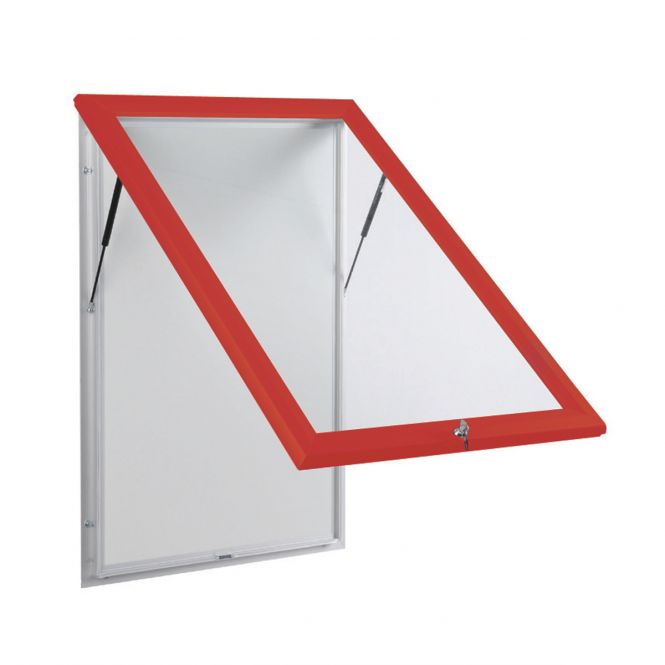 Red Outdoor Notice Boards With Base Openings