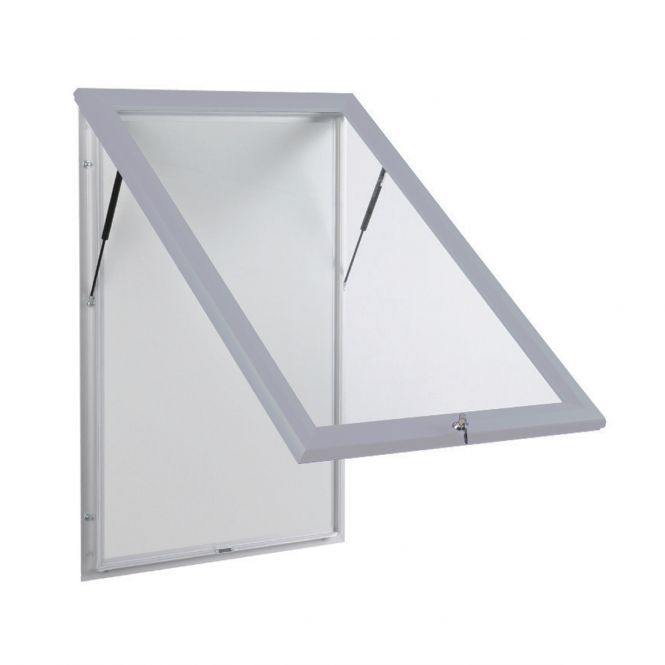 Silver Outdoor Notice Boards With Base Openings