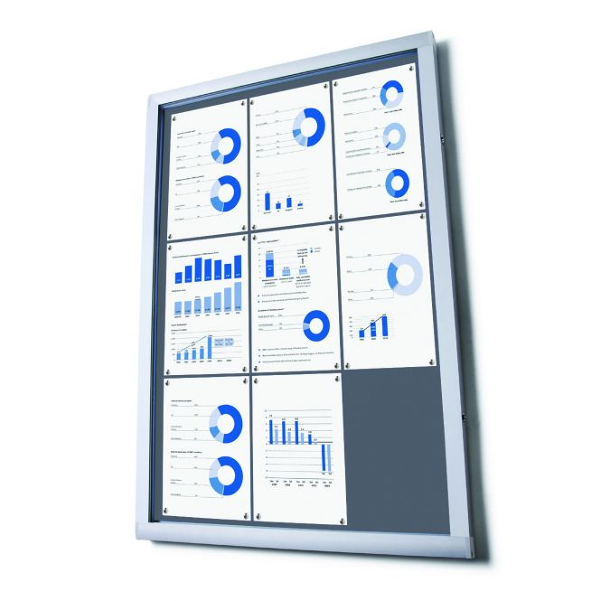 Budget Notice Boards With Grey Fabric Displays