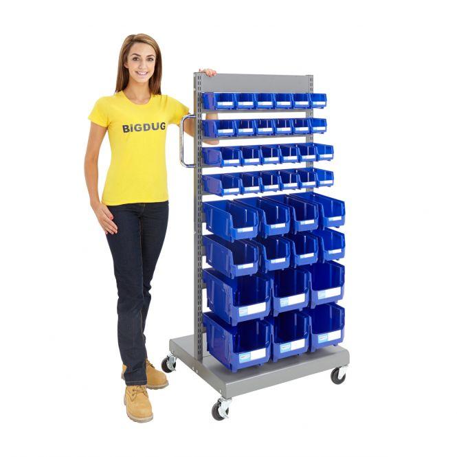 Blue Parts Bin Trolleys