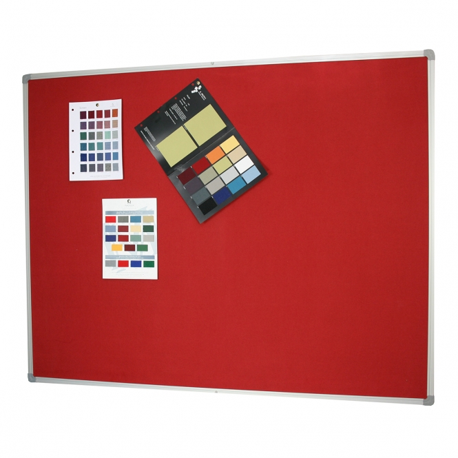 Fabric Pinboard Aluminium Framed 1200 x 1800mm