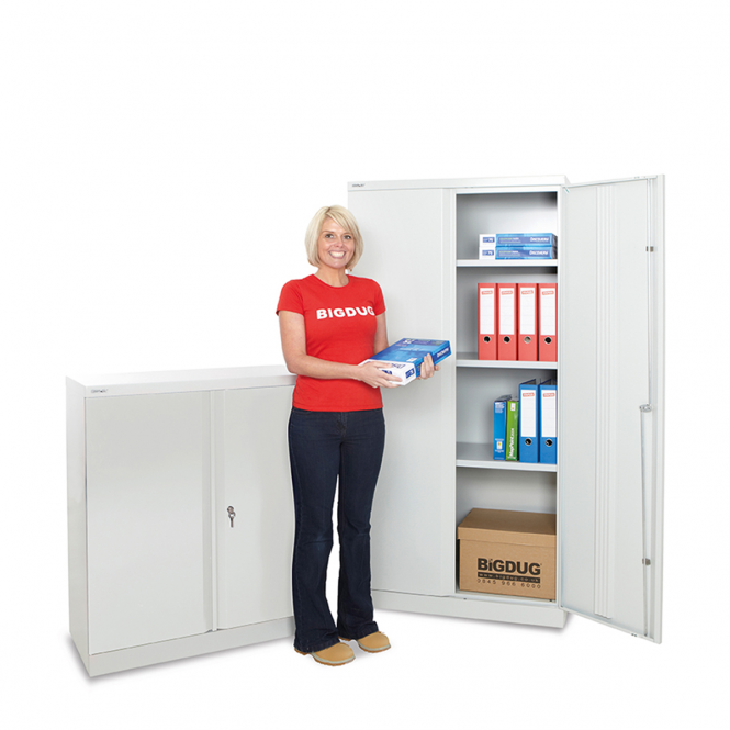 Bisley Office Cupboard with Archive Boxes Mega Deal