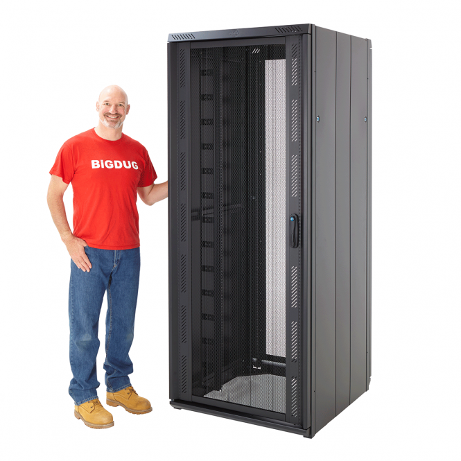 """Cannon Technologies 'Smart Net' Perforated Steel Front 19"""" Server Rack Cabinets 800mm Wide"""
