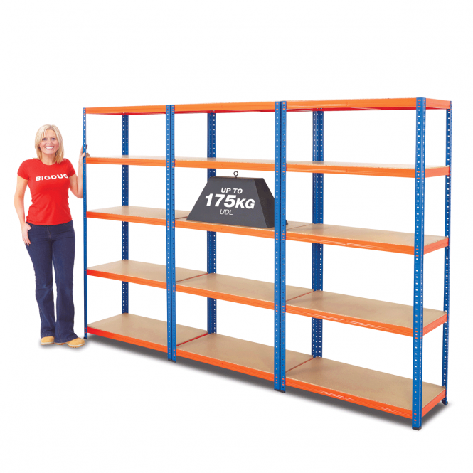 3 Bay Blue & Orange Shelving Mega Deal