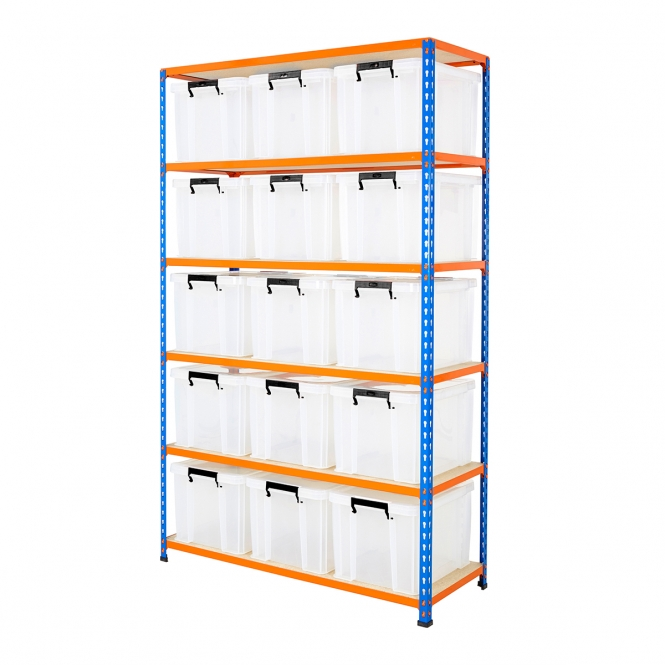 Storage Kit with 36 Litre Heavy Duty Boxes