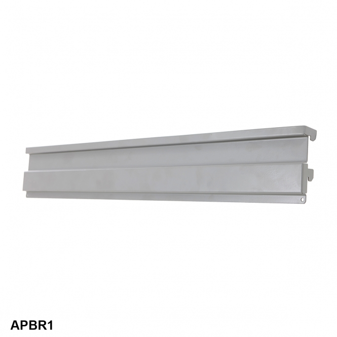 Bin Rail 38h x 580w mm For Parts Bins With Louver Panel Lip