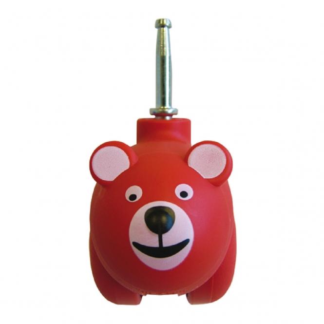 Set of 4 50mm Animal Castors RED