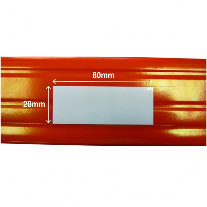 BiG340 Shelving Magnetic Shelving Label | 20mm x 80mm | White | Pack Of 100
