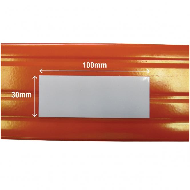 Value Shelving Magnetic Shelving Label | 30mm x 100mm | White | Pack Of 100