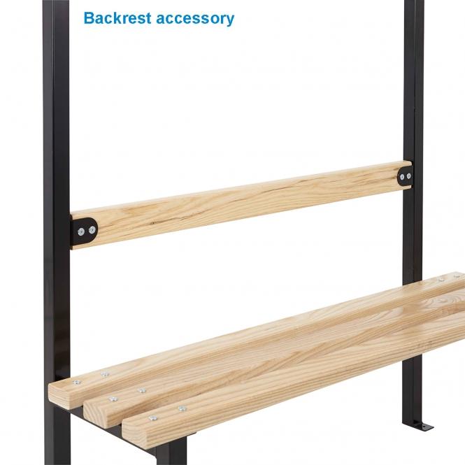 (Black Frame) Backrest 1500mm Wide - Ash