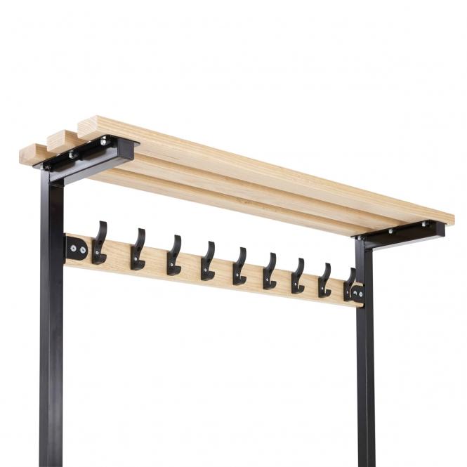 (Black Frame) Top Shelf To Fit 900mm Wide Bench - Ash