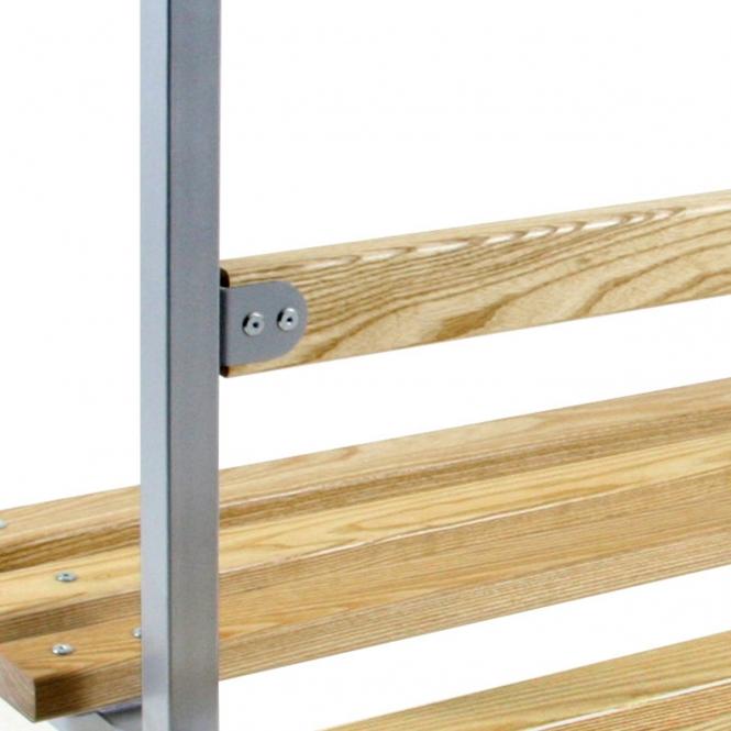 (Silver Frame) Backrest 900mm Wide - Ash