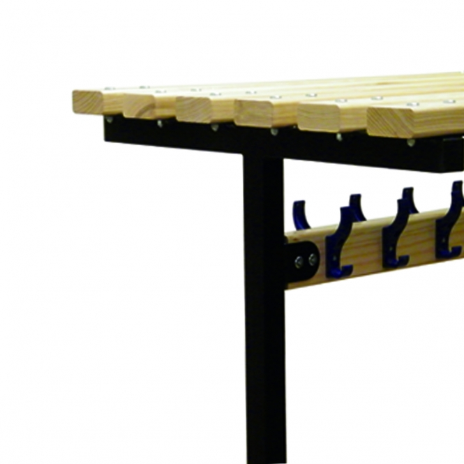 (Silver Frame) Double Top Shelf To Fit 900mm Wide Bench - Ash