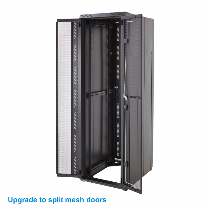 Vertically Perforated Split Door Upgrade for Front or Back of 600w Cabinet