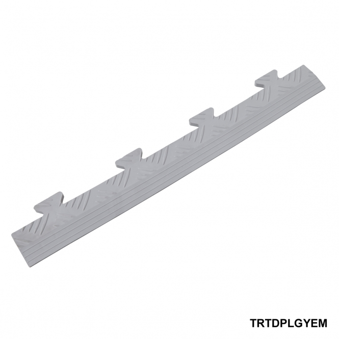 Diamond Plate Ramped Male Edge 8h x 502w x 70d mm Light Grey
