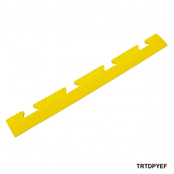 Diamond Plate Ramped Female Edge 8h x 502w x 50d mm Yellow