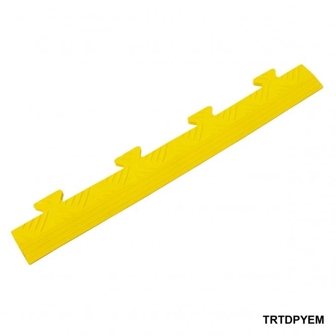 Diamond Plate Ramped Male Edge 8h x 502w x 70d mm Yellow