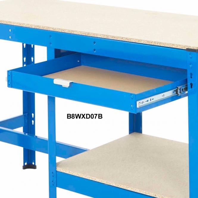 BiG800 Extra Half Width Drawer 670w X 450d mm 30kg UDL Blue