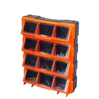 12 Compartment Hardware Storage Cabinet