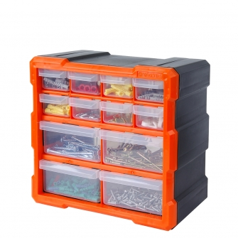 12 Drawer Hardware Storage Cabinet