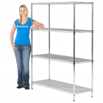 1625mm High Chrome Shelving