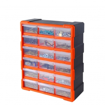 18 Drawer Hardware Storage Cabinet
