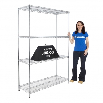 1800mm High Chrome Shelving