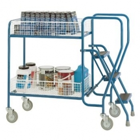 2 and 3 Step Tray Trolleys Removable Baskets