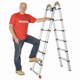 4 In 1 Telescopic Multi-position Aluminium Ladder