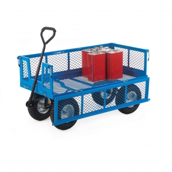 400kg Turntable Platform Trucks With Mesh Sides And Base