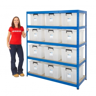 48 Litre BiGBOX 265kg Industrial Shelving Kit