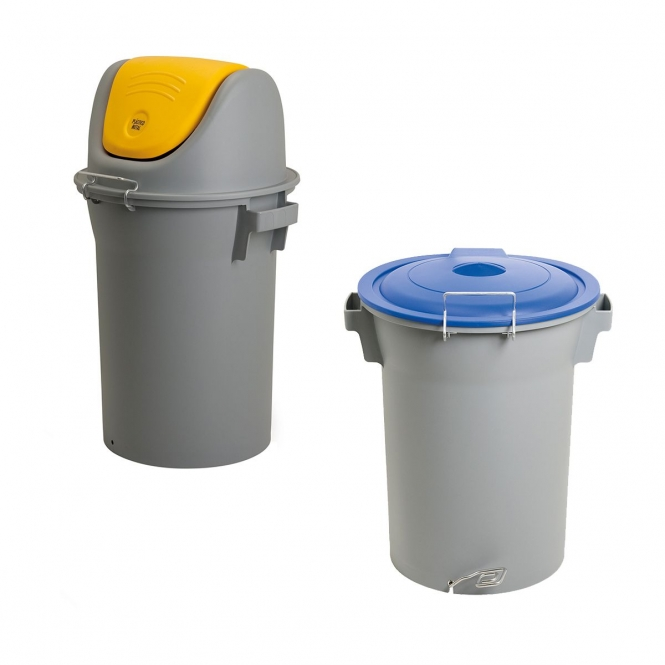 52 Litre Swing and Pedal Waste Bins