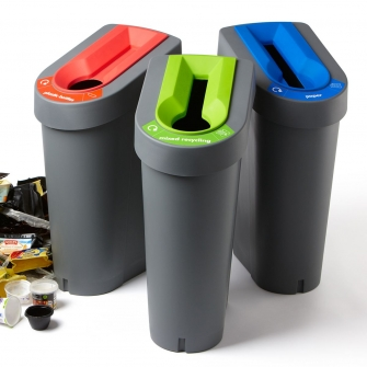 70 Litre Recycling Bins With Lid And Coloured Lid Insert