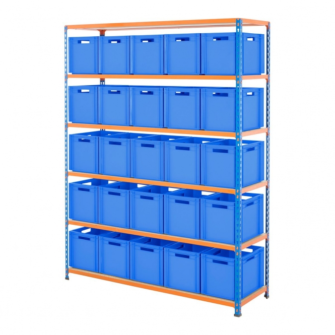BiG340 1525mm Wide Shelving Kit With Blue Euro Boxes