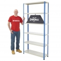 BiG340 Blue & Grey 1980mm High Shelving With Painted Steel Shelves