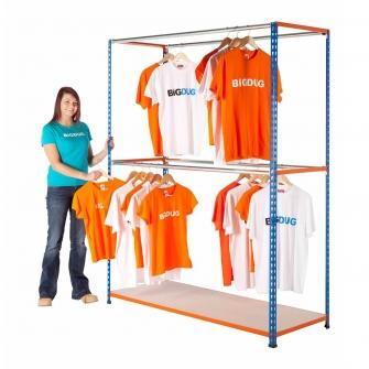 BiG340 Garment Racking Blue & Orange
