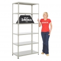 BiG340 Grey 1980mm High Shelving With Painted Steel Shelves