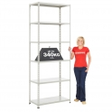 BiG340 Grey 2440mm High Shelving With Painted Steel Shelves