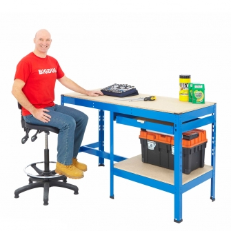 BiG800 Blue Workbenches With Drawers