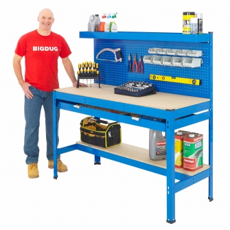 BiG800 Blue Workstations With Drawers