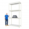 BiG800 Grey 3050mm High Racking With Steel Shelves