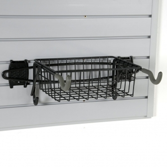 Bike Rack And Basket For Slatwall Or Wire Mesh Panels