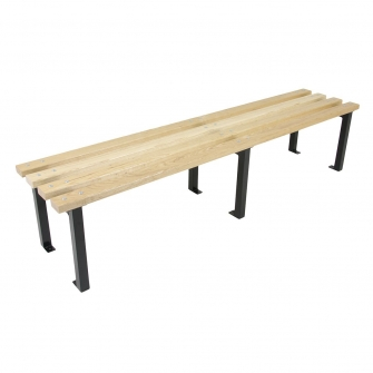 Black 400mm Deep Changing Room Benches