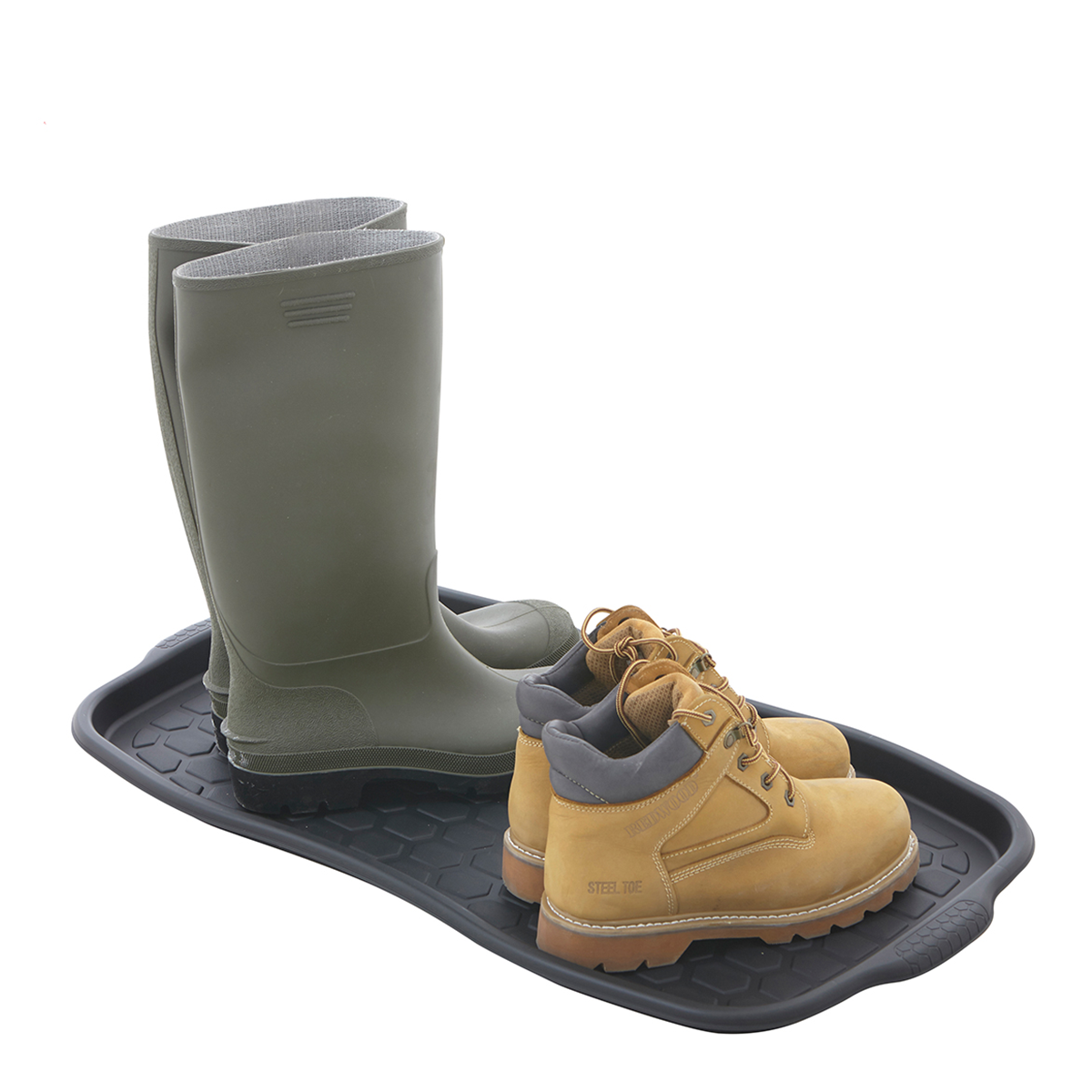 black tidy boot shoe tray entrance mat from bigdug uk