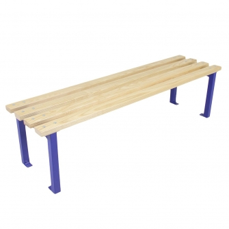 Blue 400mm Deep Changing Room Benches
