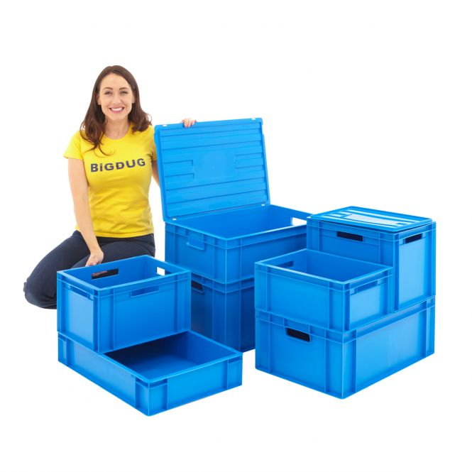 Blue Euro Stacking Boxes