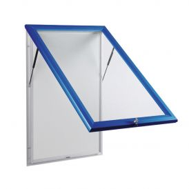 Blue Outdoor Notice Boards With Base Openings