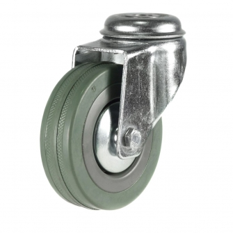 Bolt Hole 13 Series Castors With Grey Rubber Non-Marking Wheels
